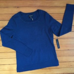 Carole Little Teal Crewneck Sweater Size Small NWT